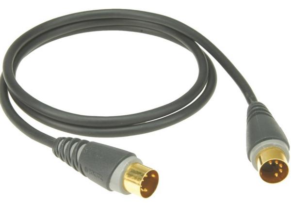 MIDI Kabel sw 1m