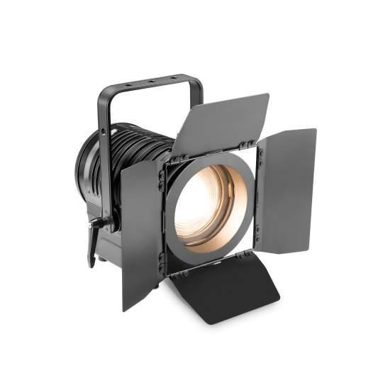 TS 200 WW Theater-Spot mit Fresnel-Linse und warmweißer 180 W LED in schwarzem Gehäuse