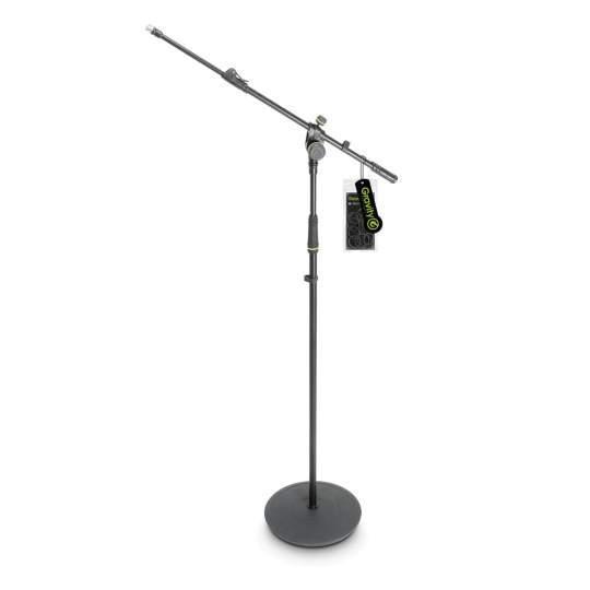 MS 2322 B Mikrofonständer mit Tellerfuß und 2-Punkt Ausziehgalgen lang