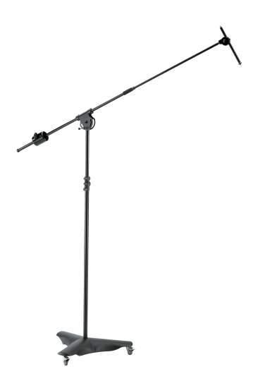 21430 Overhead Mikrofonstativ Fahrbares Mikrofonstativ schwarz