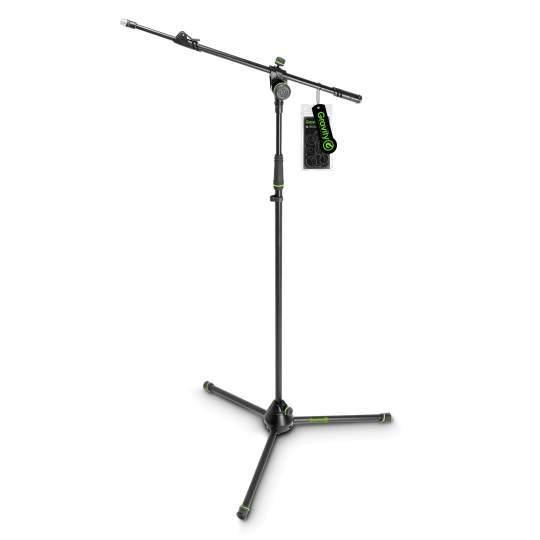 MS 4322 B Mikrofonständer mit Dreibein-Klappfuß und 2-Punkt Ausziehgalgen