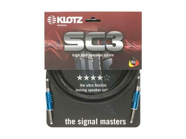 SC-3 Speaker-Kabel schwarz 10m Klinke - Klinke 6,3mm Male