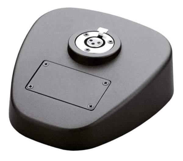29390 Tischsprechstelle Zinkdruckguss-Sockel mit 3-pol verdrahteten XLR Anschlüssen