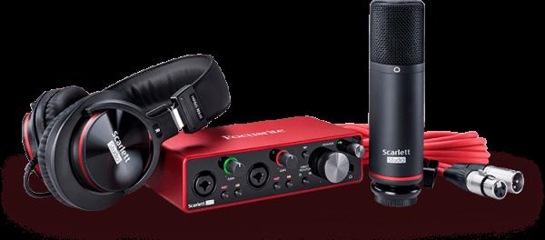 Scarlett 2i2 Studio (3rd Gen) USB Audiointerface Recording