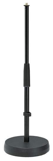 233 Tisch- / Bodenstativ Gussrundsockel mit spezieller Gummieinlage