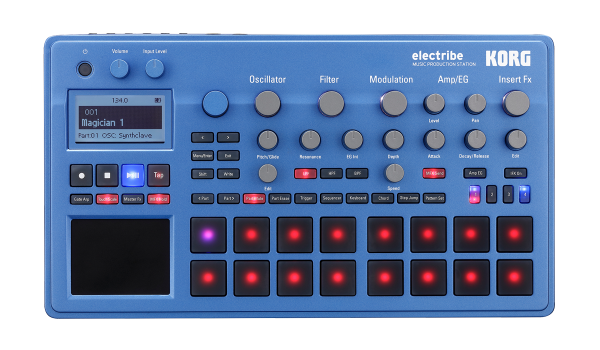 ELECTRIBE2B, 400 Sounds, blau
