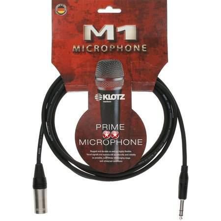M1 Mikrofonkabel sw 1m XLRm-KLm sym Klotz Stecker