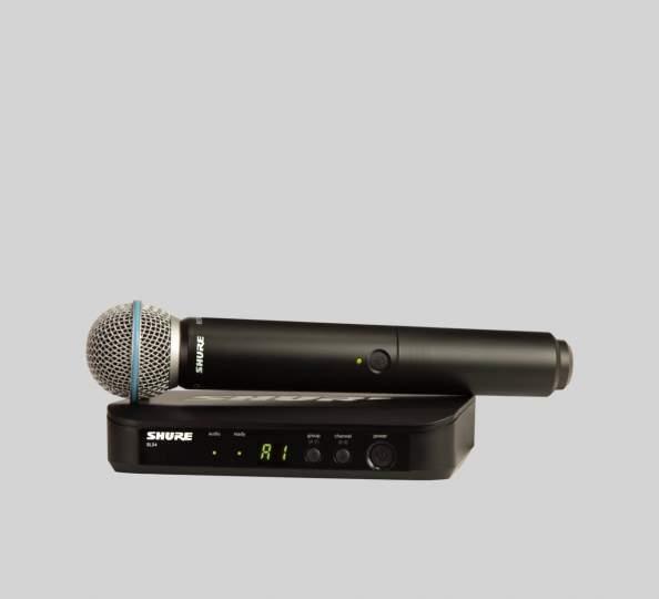 BLX24E/SM58 - K3E SM Vocal-Funksystem mit SM58 606 bis 630 MHz