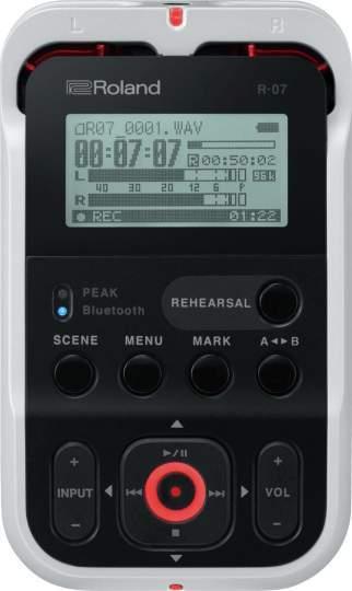 R-07 portables Aufnahmegerät Farbe: weiss