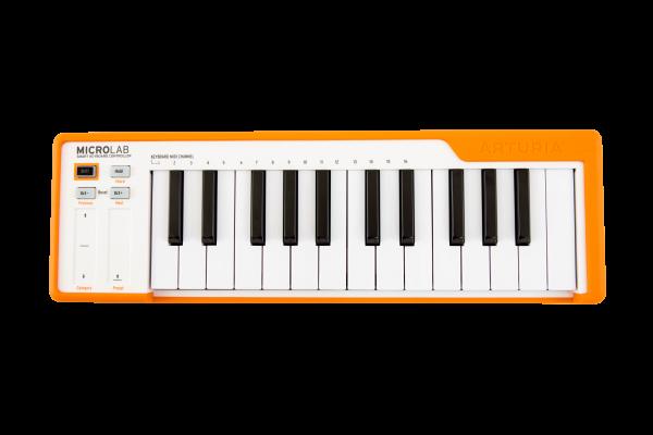 MicroLab Orange USB Keyboard 25 Slimkeys