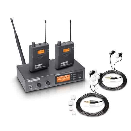 MEI 1000 G2 BUNDLE In-Ear Monitoring System drahtlos mit 2 x Belt Pack und 2 x