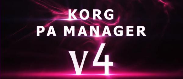 Korg PA-Manager Software V4 KPM