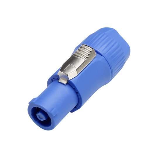 7923 Kabelbuchse mit Verriegelung, Power-In, Schraubanschlüsse, blau