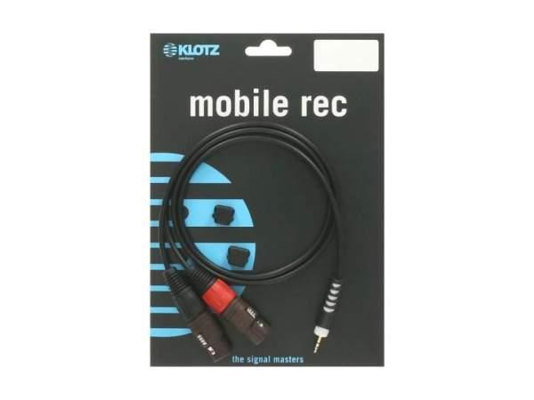 Y-Kabel schwarz 2m mini klinke 3,5 mm - 2xXLR fm