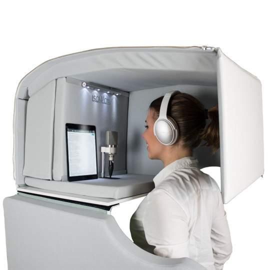 Isovox Mobile Vocal Booth V2 Isolierte Gesangskabine - Weiß