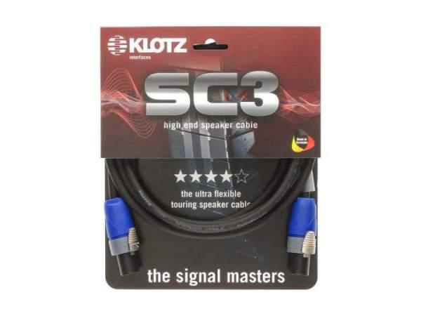 SC-3 Speaker Cable schwarz 1m SpeakON - SpeakonON