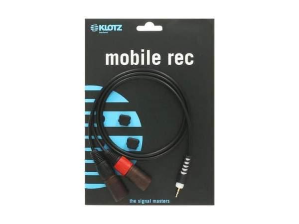 Y-Kabel schwarz 3m klinke 3,5 mm - 2 x XLR male