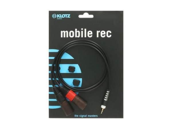 Y-Kabel schwarz 2m klinke 3,5 mm - 2 x XLR male