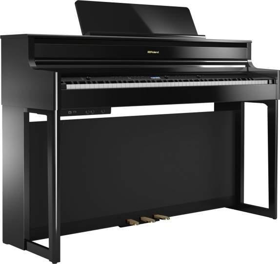 HP-704-PE schwarz hochglanz Klavierlack inkl. KSH704/2PE EXP Ständer