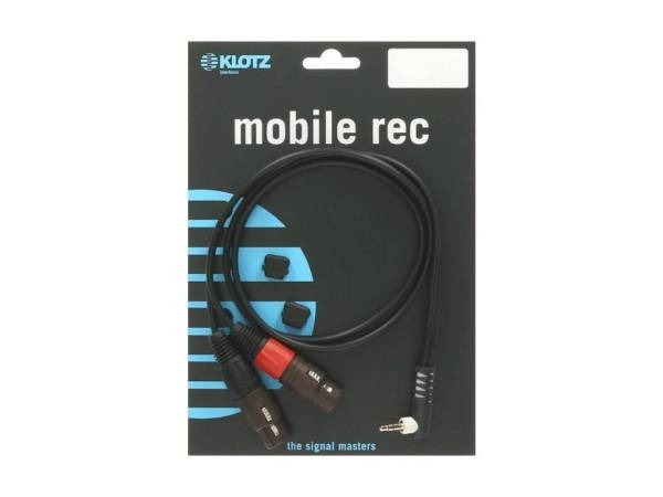 Y-Kabel schwarz 3m WK klinke 3,5 mm - 2xXLR fm