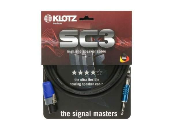 SC-3 Speaker-Kabel schwarz 15m SpeakON - Klinke 6,3mm male