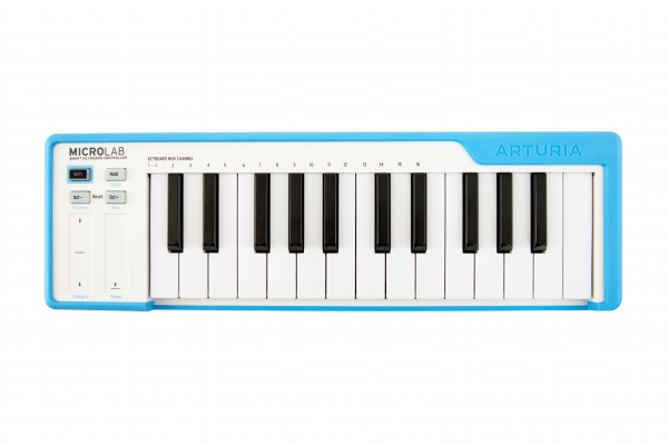 MicroLab Blue USB Keyboard 25 Slimkeys