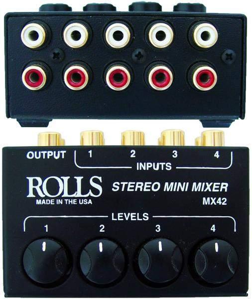 MX 42 4-Kanal Stereo Mini-Mixer