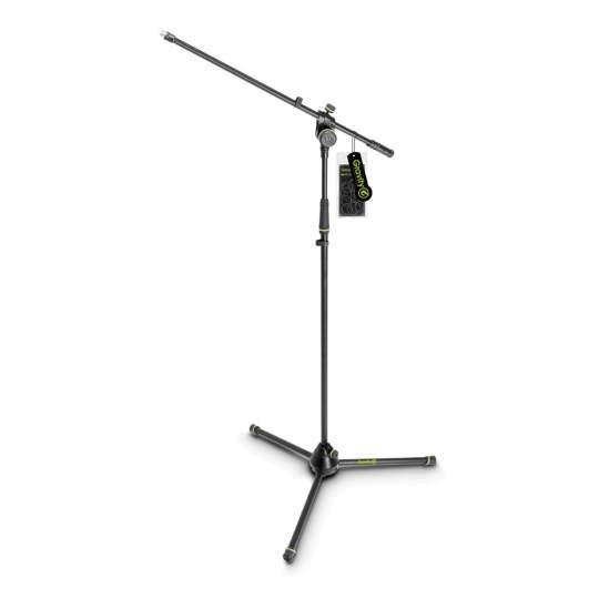 MS 4321 B Mikrofonständer mit Dreibein-Klappfuß und 2-Punkt Galgen